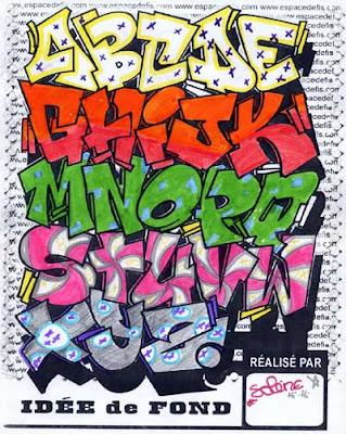 ceidisgewild: graffiti alphabet block style