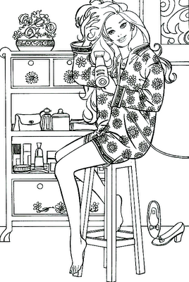 Fashionista Barbie Coloring Pages >> Disney Coloring Pages
