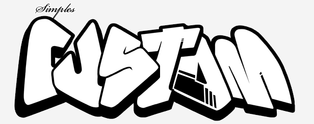 Graffiti Style: 2 Sketch Graffiti Wildstyle and Simple Design
