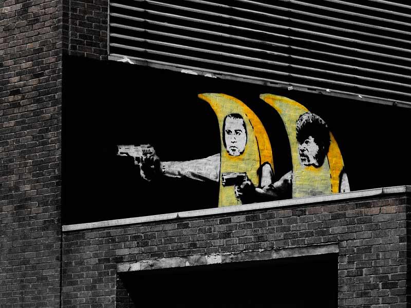 graffiti walls: Banksy Graffiti - Is It Art Or a Vandalism