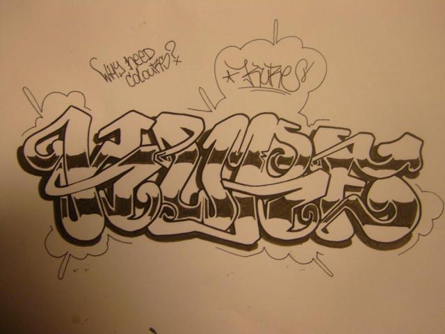 Name Drawings: Graffiti Names