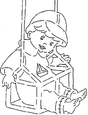 coloring pages swing - baby swing kids coloring pages disney coloring pages