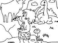 Cave Painting Cave Art Coloring Pages