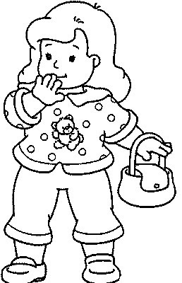 Transmissionpress Girl With A Purse Kids Coloring Pages
