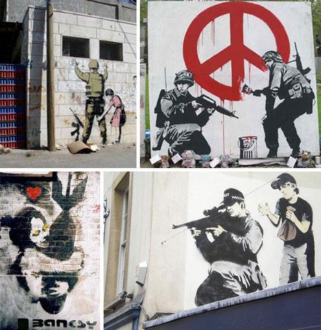 15 Banksy Graffiti Art...R In Bubble Letters