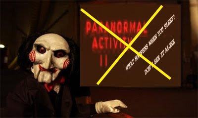 Saw 7 vs. Paranormal Activity 2