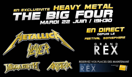 Heavy Metal, the Big Four en direct au Grand Rex