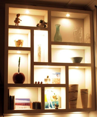 Life design by geoff ross floating architectural shelf - Bookshelf design on wall ...