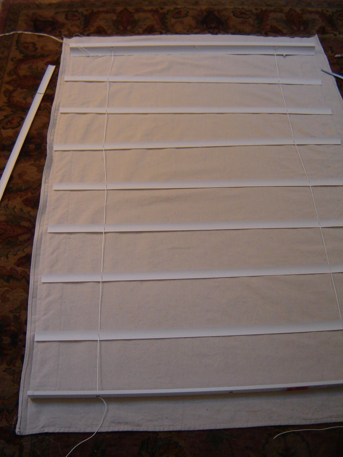 Heart And Home How To Make Roman Shades From Mini Blinds