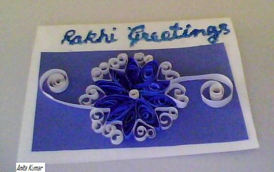 quillingmagic  rakhi flower card