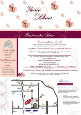 My Dream Wedding Contoh Kad Kahwin