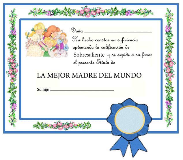 Maestra De Infantil Diplomas Para El Día De La Madre