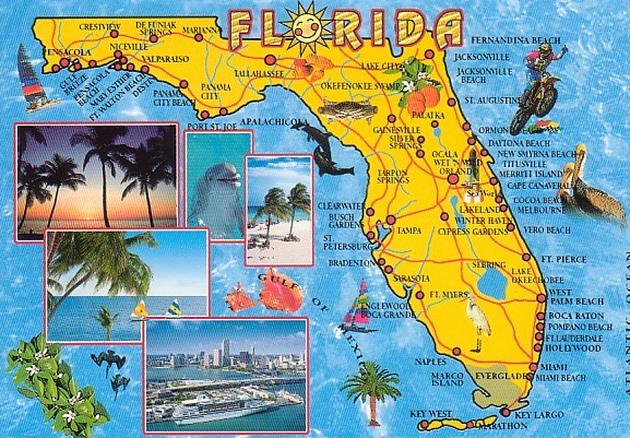 Complete Map Of Florida.Mis Aventuras Florida Adventure