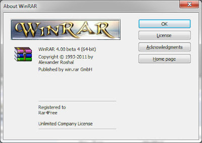 WinRAR Beta 4 Download   WinRAR 4.00 Beta 4 32bit 64bit