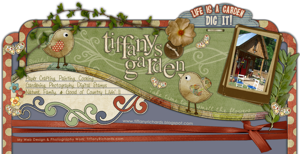 Tiffany's Garden Paper Crafts, Digital Stamps, Hand Made Cards, Country Living