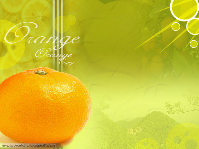 orange fruit wallpaper