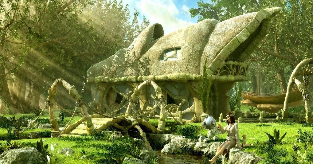 Koleksi grafik-grafik landskap 3D - Unikversiti