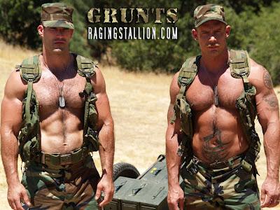 Raging stallion grunts