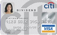 5% Cash Back - Citi Divided Platinum Select Card
