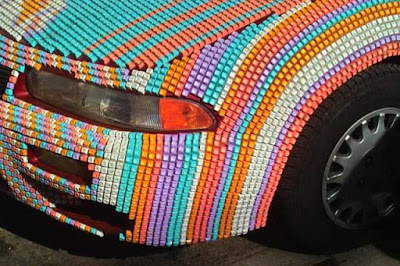Colorful computer keyboard keys for your car