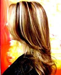 cabelos com mechas largas