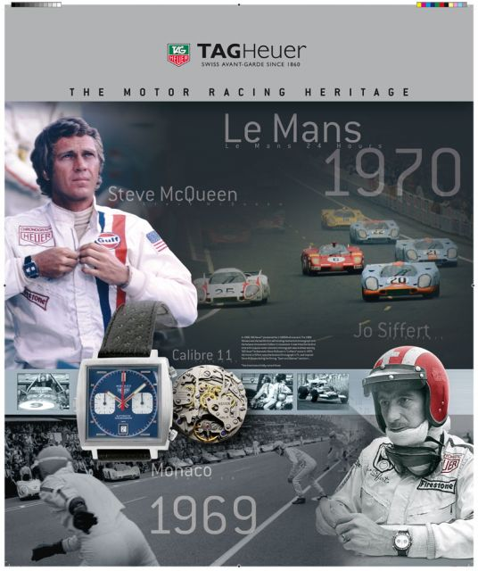 Present Very Cool Tag Heuer Motor Racing Posters