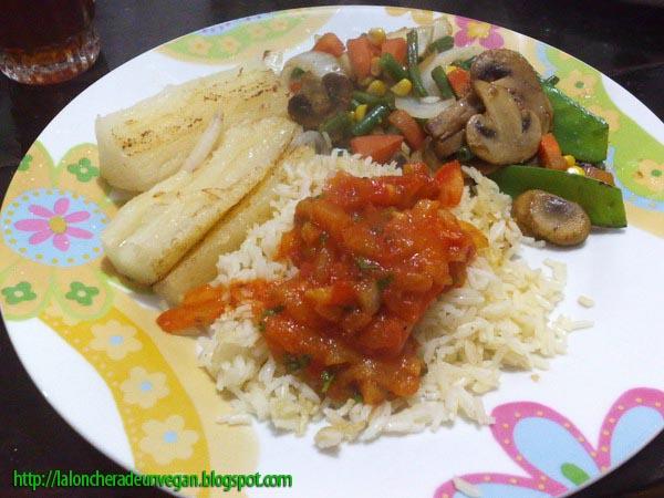 Comida Vegana Casera y facil de hacer Cena improvisada