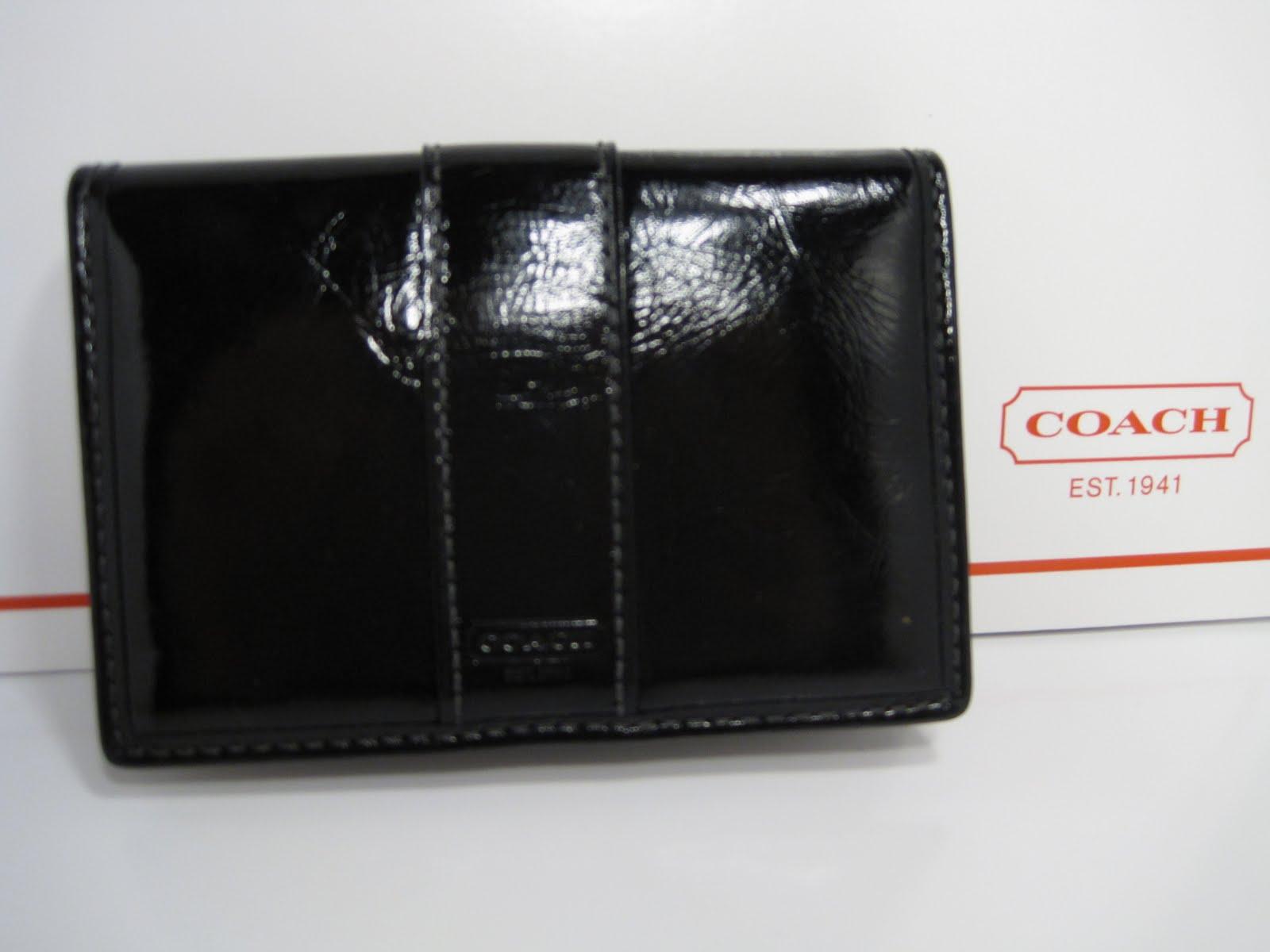 first rate c5e7b 4507d Vogue BlogShop: Coach Men's Leather ID Card Case Wallet 60567 ...