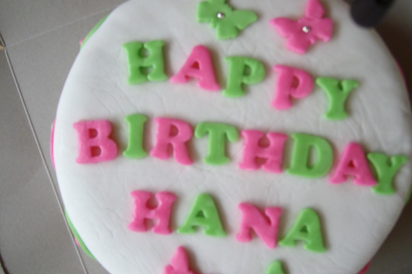 Yazzy Bakes Happy 12th Birthday Hana