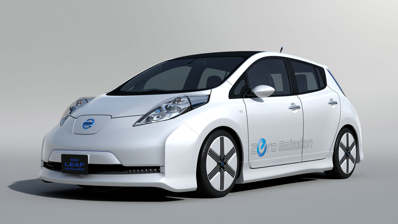 new nissan leaf aero style concept here pictures and details garage car. Black Bedroom Furniture Sets. Home Design Ideas
