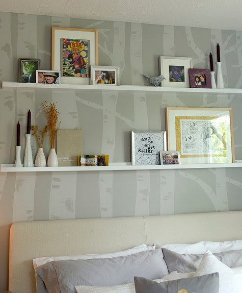 Suburban Renewal: Skinny Wall Shelves And Decorating Style