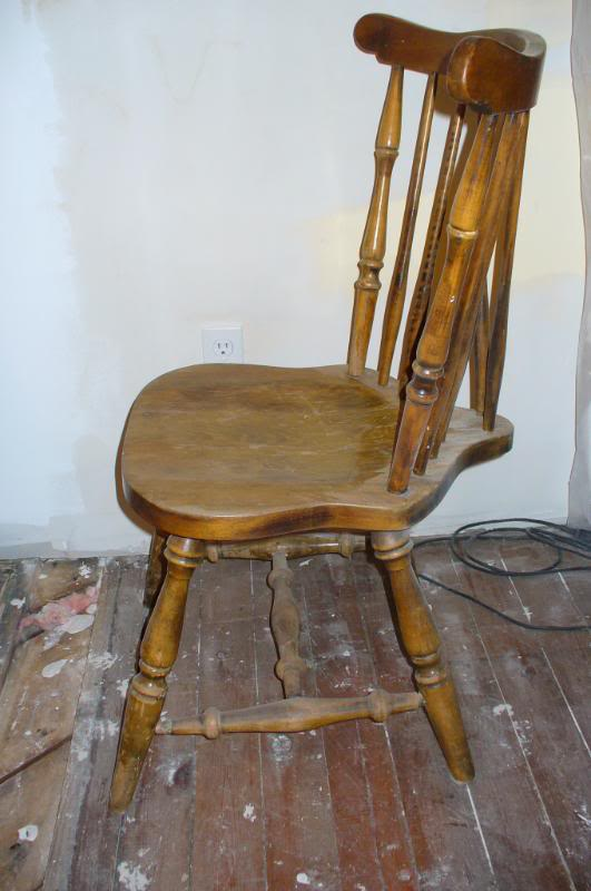 Restoration Ramblings: Old wooden kitchen chair makeover