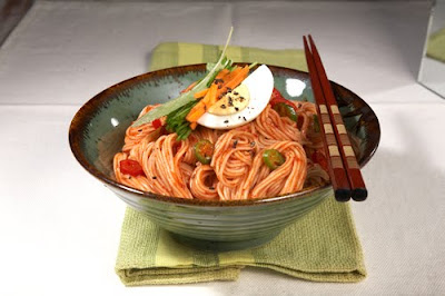 What S Up Korea Korean Spicy Cold Noodles Recipe