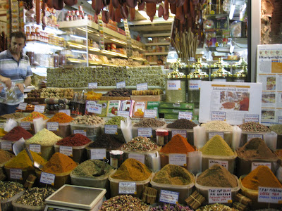 Lots of spices at the Spice Market in Istanbul
