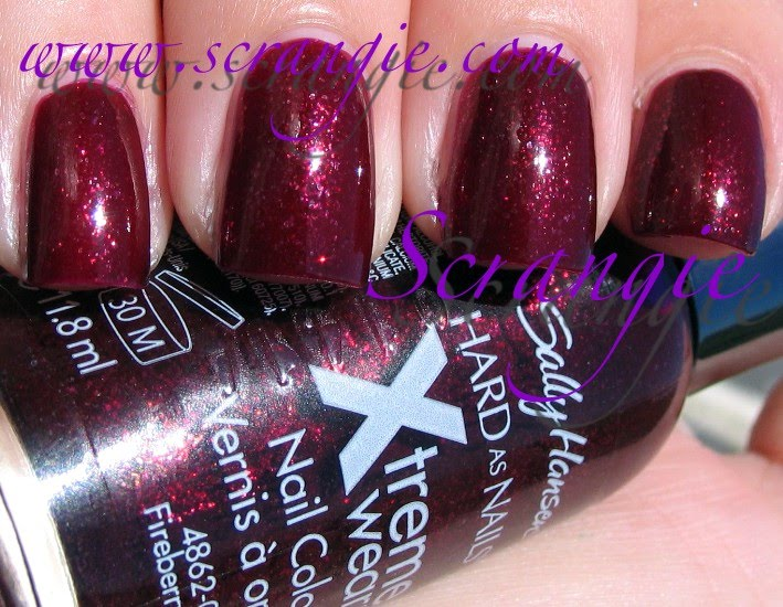 af57f7a166 Sally Hansen Hard as Nails Xtreme Wear Fireberry Red. What a mouthful. Is  this the longest brand/product name on the market? I think it might be!