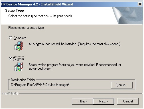 Technology Solution: Installing HP Device Manager