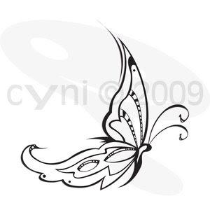 Volkert blog: tribal butterfly tattoo