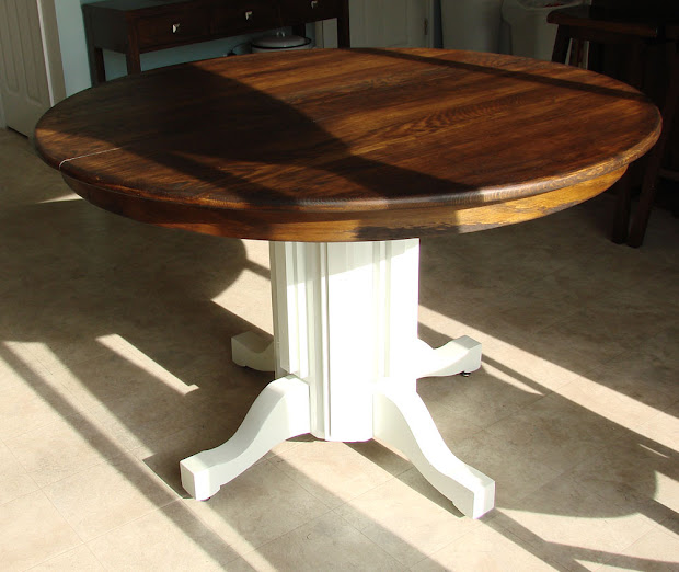 Table with Stained Top Painted