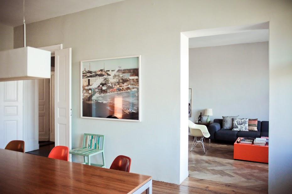 Tolle Wohnzimmer-Kombi In Grau Orange