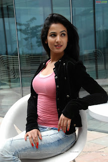 sonal chauhan in pink tshirt(17)