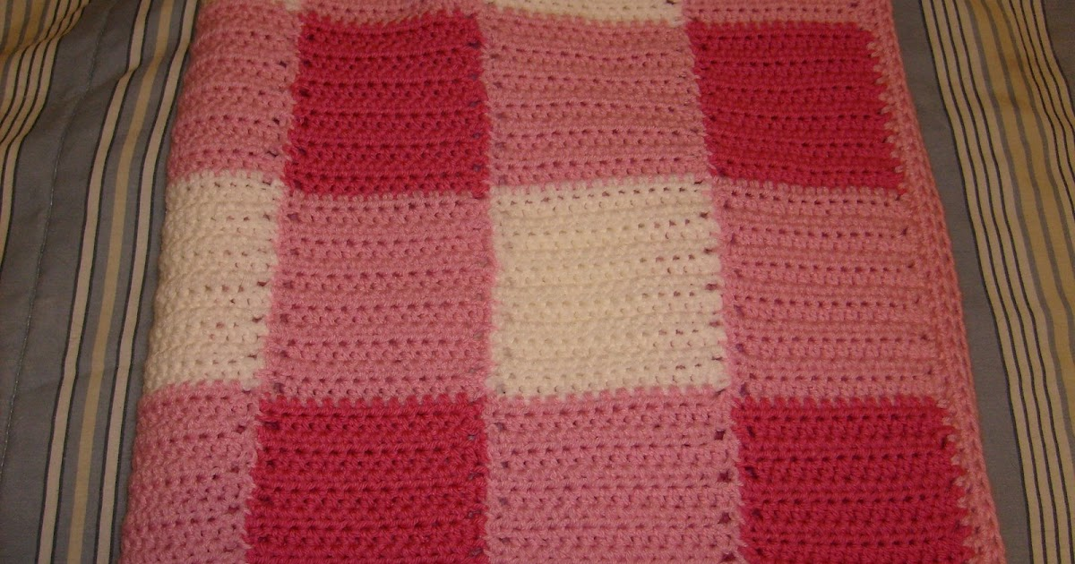 Manner S Crochet And Craft Gingham Baby Blanket