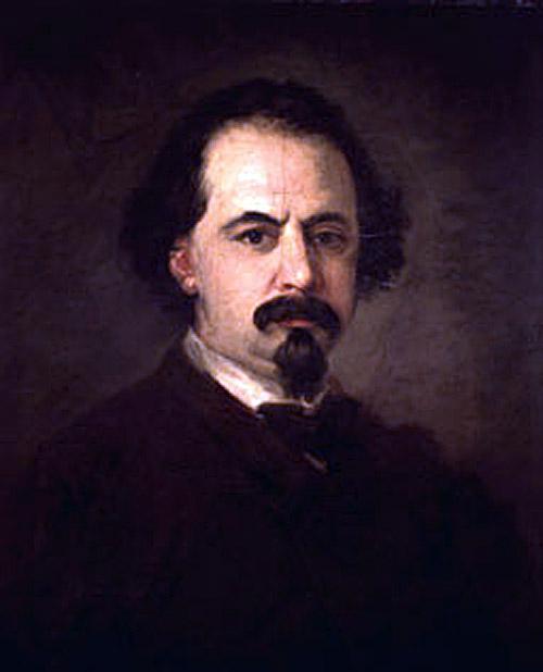 Eugenio Lucas Velázquez, Self Portrait, Portraits of Painters, Fine arts, Lucas Velázquez
