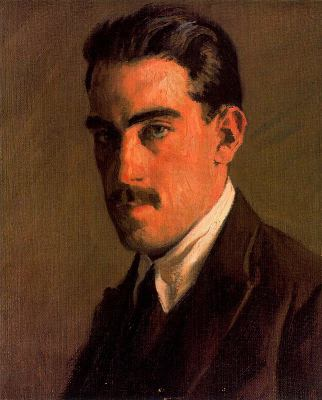 Ricardo López Cabrera, Self Portrait, Portraits of Painters, Fine arts, López Cabrera, Portraits of painters blog, Paintings of Ricardo López Cabrera, Painter Ricardo López Cabrera