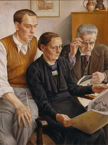 Adolf Reich, Self Portrait, Portraits of Painters, Fine arts, Portraits of painters blog, Paintings of Adolf Reich, Painter Adolf Reich