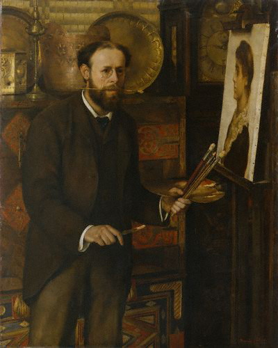John Collier, Self Portrait, Portraits of Painters, Fine arts
