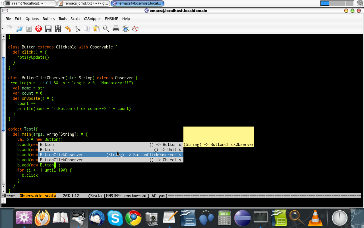 Ensime + SBT + Emacs + Scala + Vibrant Ink | Technicalitee