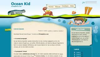 Ocean Kid Anime Blogger Template