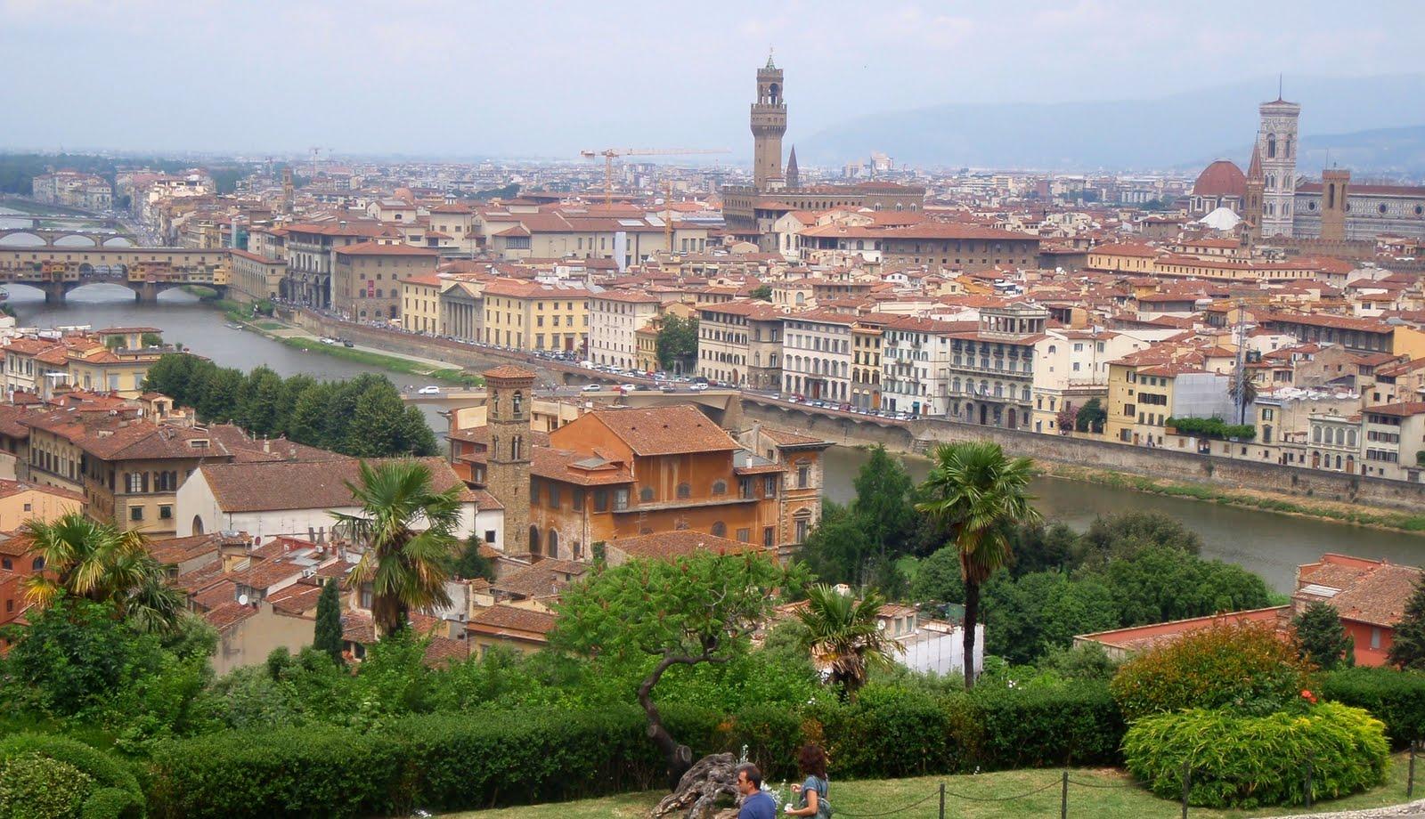 Italienbloggen Sophie Qui Florens från höjden