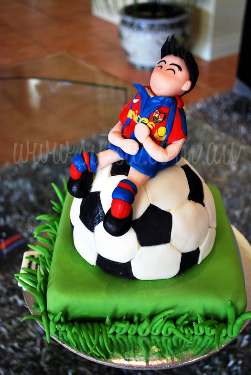 A Little Baking Memoir Barcelona Soccer Cake