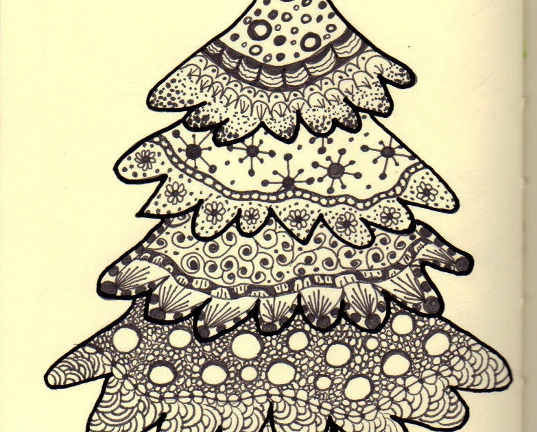 The Colorful Quilter: Zentangle Round The Christmas Tree